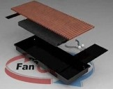Конвектор внутрипольный фанкойл Fancoil FC 55 Plus mini